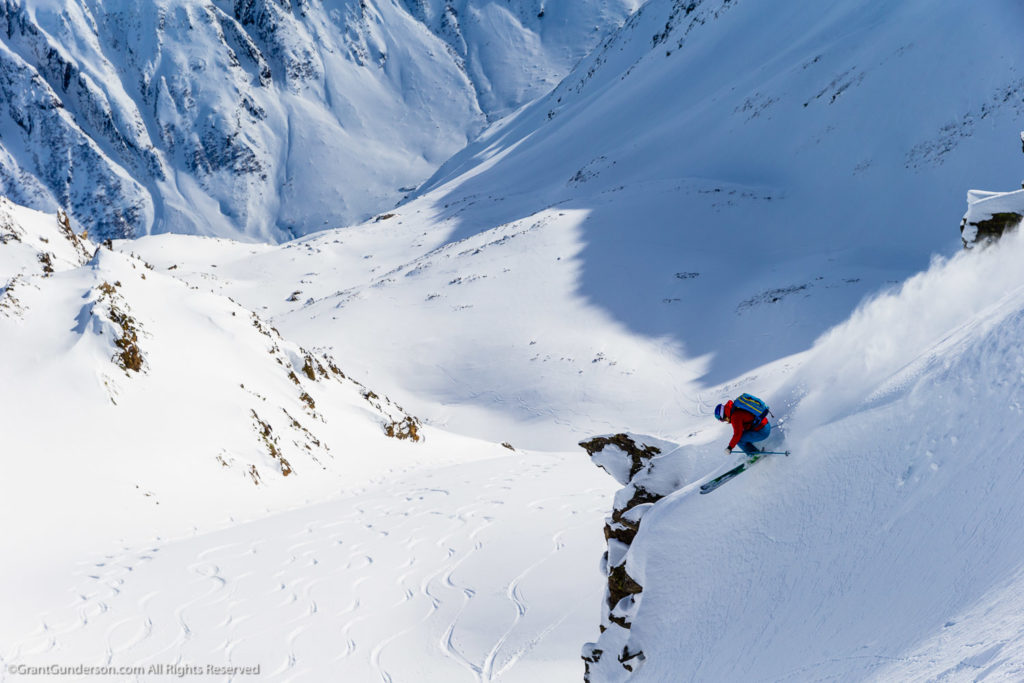 Jess McMillan skiing in Andermatt