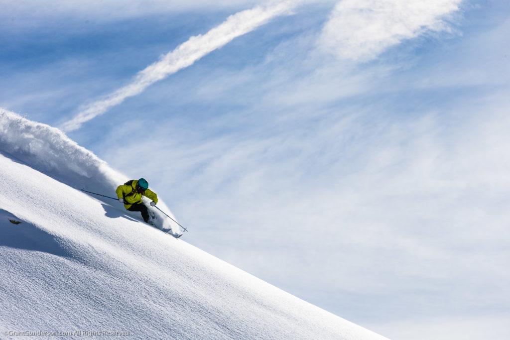 Grete Eliassen skiing in Andermatt