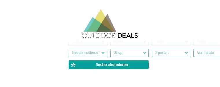 Suche abonnieren als neue Funktion bei OutdoorDeals